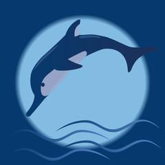 Fond de hotte en verre imprimé Dauphins dolphin