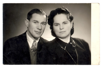 husband and wife - circa 1955