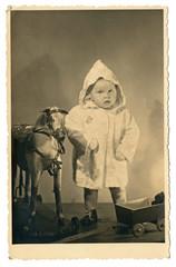 boy and toy - czechoslovakia - circa 1950
