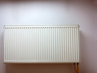 modern radiator at the wall