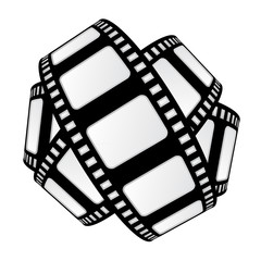 isolated movie tape sphere vector