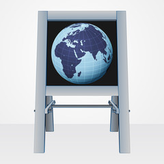 africa world presentation on easel board vector