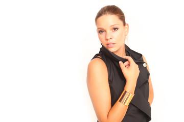 Model in schwarz