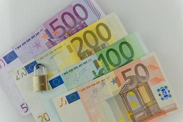 Euroscheine mit Sicherheitsschloss
