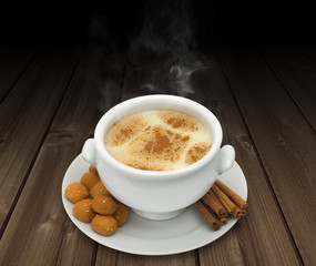 Oriental dessert Sahlab presented on a background