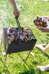 barbecue grilled meat outdoor