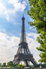 Eiffel Tower seen from along the Seine