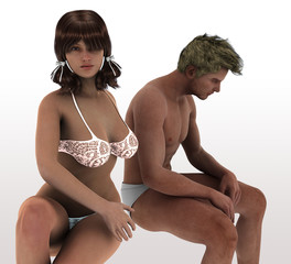 Sex relation problems between Unhappy couple