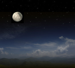 Poster Full moon full moon background