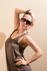 Slim fashion model