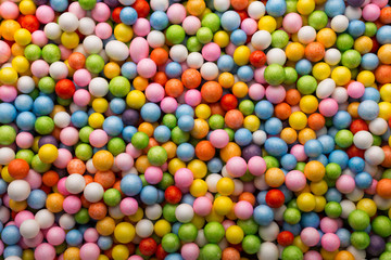 Small colored balls.