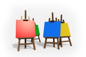 Colorful Painting Easels