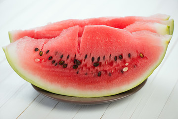 Watermelon slices, horizontal shot, close-up