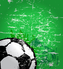 soccer / football illustration, free copy space, vector