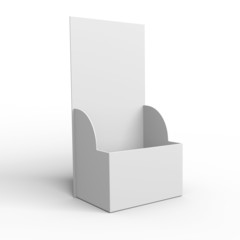 3D empty blank box display or stand