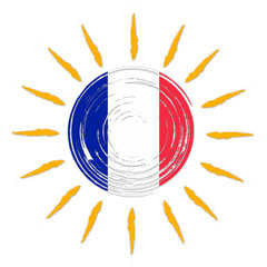 French flag in sun