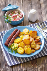 Sausages with potato