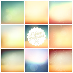 Set Of Soft Colored Abstract Background