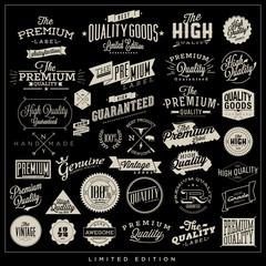Big set of premium quality typography elements