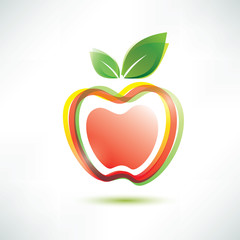 red apple symbol, vector icon