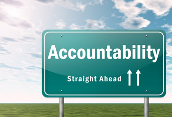 "Highway Signpost ""Accountability"""