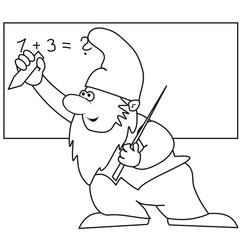 dwarf - professor, coloring
