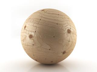 Puzzle Balls Wood