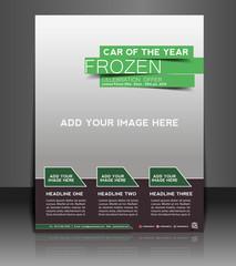 Vector business brochure, flyer, magazine cover