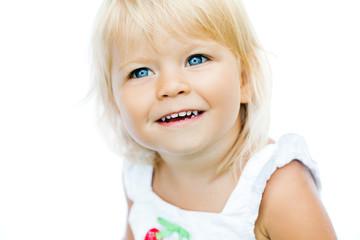 Adorable little girl smiling