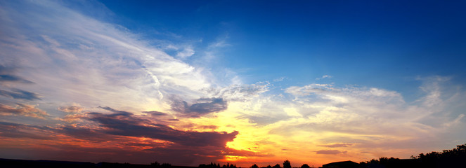 Pano of the sky at sunset