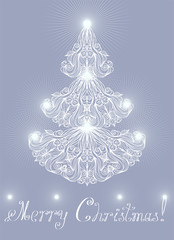 Greeting card with lacy pine