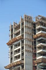 Construction site work in progress