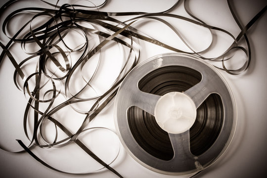 Old magnetic tape reel