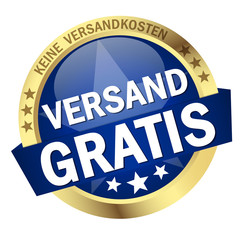 """Button mit Banner """" VERSAND GRATIS """""""