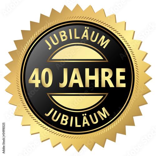 Jubilaum Button 40 Jahre Stockfotos Und Lizenzfreie Vektoren Auf