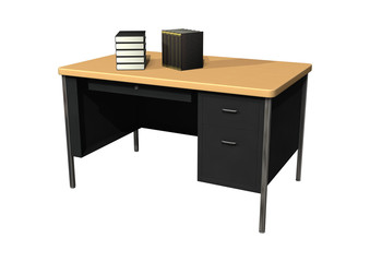Desk with Books