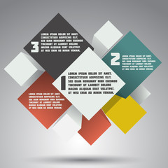 Modern colorful design. business options banner