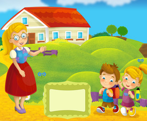 Cover illustration - good for cover or diploma