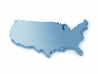 3d map of united states of america