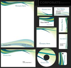 Identyfikacja wizualna firmy, zestaw
