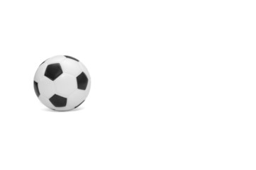 Soccer football isolated white background