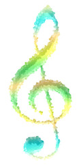 colorful treble clef