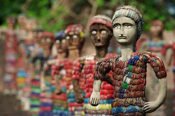 army of statuettes in Chandigarh