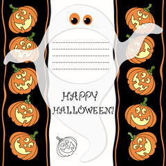 Halloween greeting card with  place for text