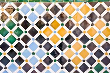 ceramic tile in ALhambra, Granada, Spain