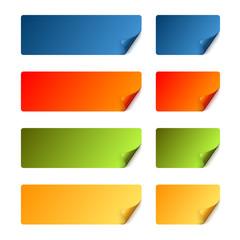 Sticker Set mit gebogener Ecke - bunt