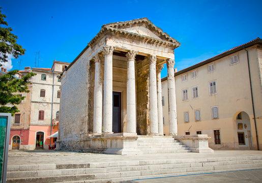 Roman temple of Augustus in Pula, Croatia.