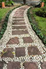 Stone pathway in the garden