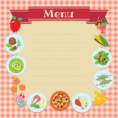 Cafe or restaurant menu vector design template