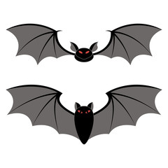 bats different types on a white background